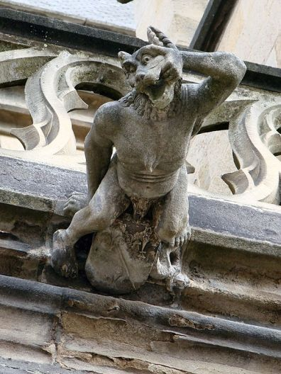 Many statues depicting werewolves are still around