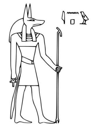 This is Anubis, Egyptian protector of the dead
