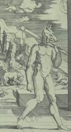 Were (old English man) + Wolf = WereWolf
