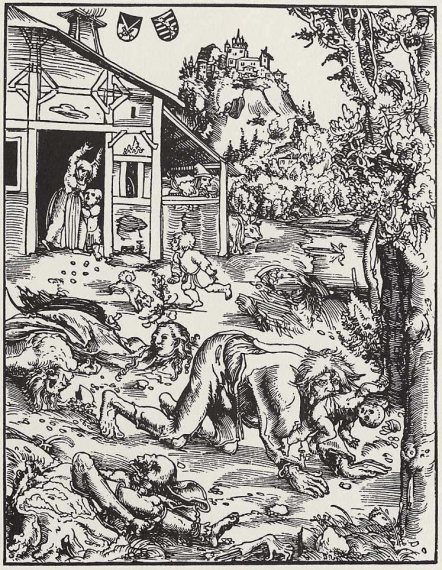 Cannibalism was often connected with werewolves