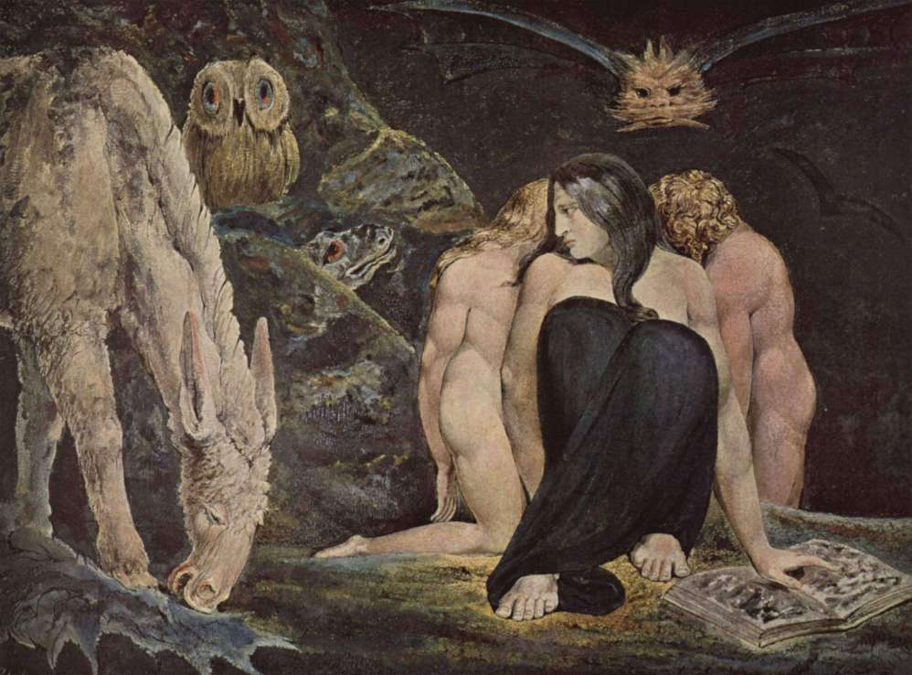 William Blake's The Night of Enitharmon's Joy, often referred to as The Triple Hecate or simply Hecate (1795)