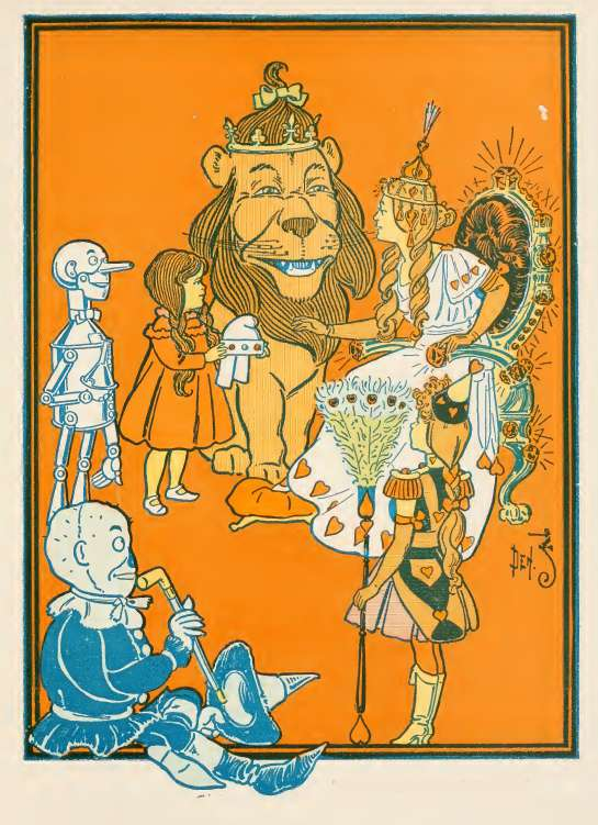 William Wallace Denslow And Frank Baum In The Land Of Oz