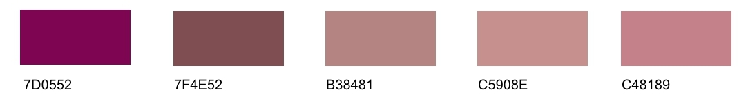 Pink Tones: List of Different Shades with Names | Many ...