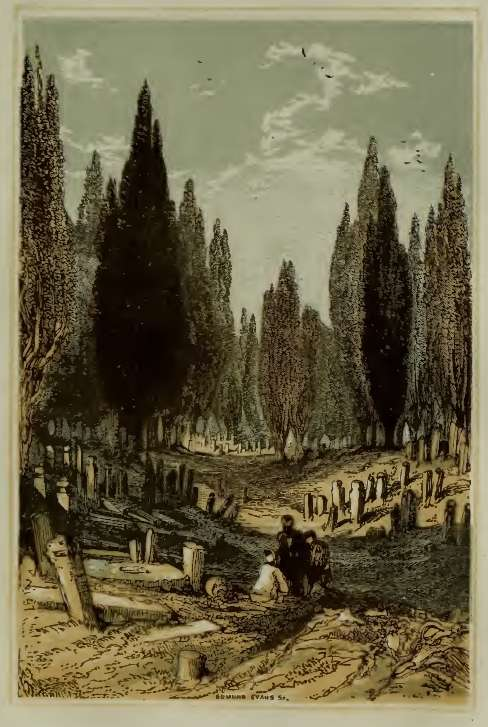 burial place at scutari by birket foster