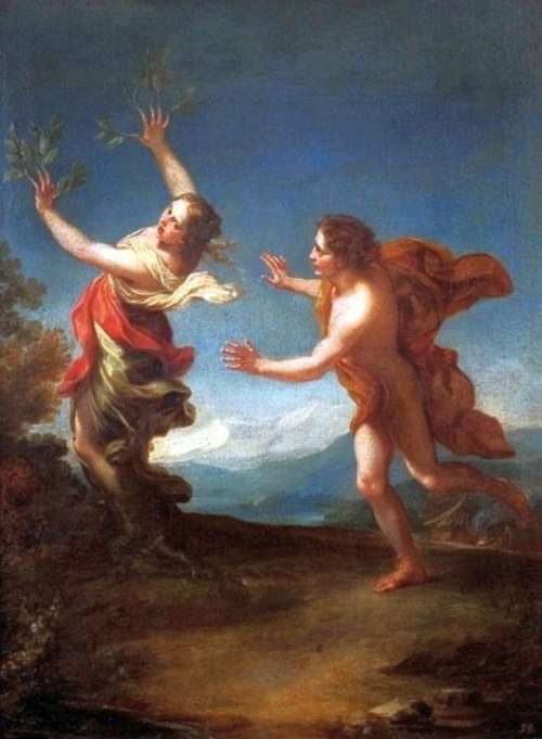 apollo chasing daphne by benedetto luti