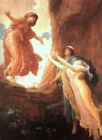 return of persephone by Frederic Leighton
