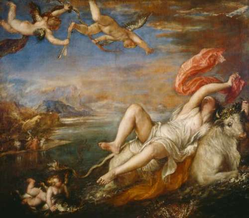 zeus and europe by titian