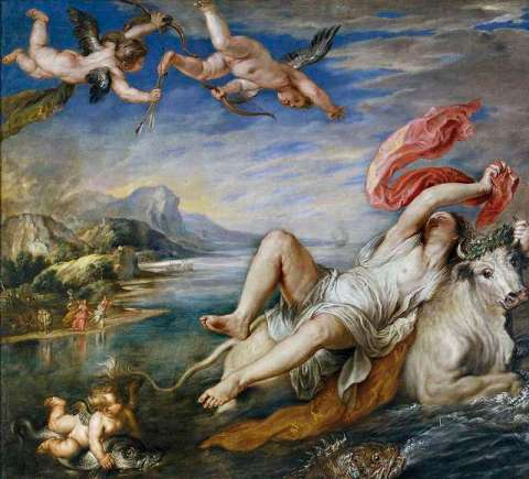 teus and europa by rubens
