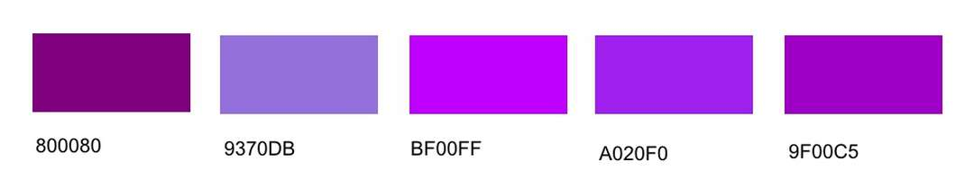 purple 9370db medium purple bf00ff electric purple a020f0 purple x11