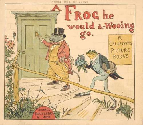 randolph-caldecott-a-frog-he-would-a-wooing-go-color-illustration-cover