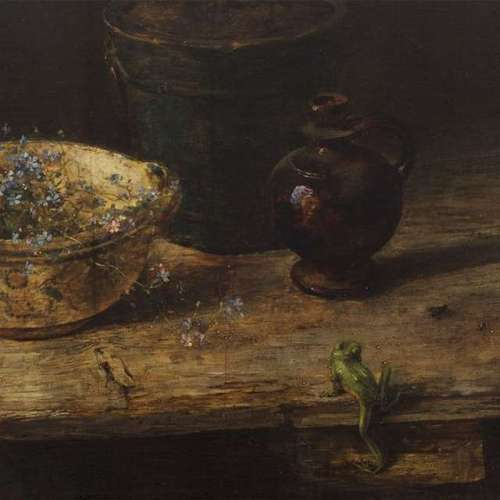 still-life-with-frog-carl-moll-oil-on-panel