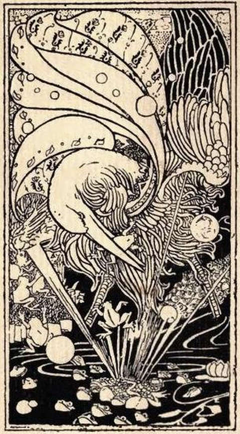 the-frogs-who-desired-a-king-charles-robinson-illustration