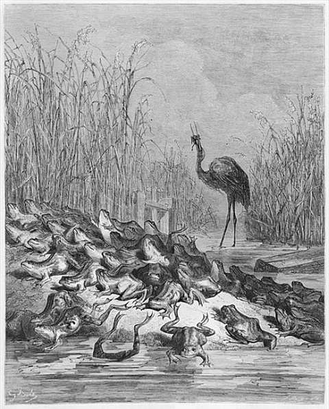 the-frogs-asking-for-a-king-gustave-dore-illustration